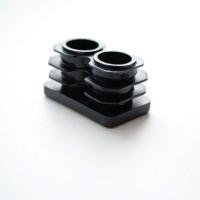 Заглушка 40х25 для труб пластиковая. Вид снизу